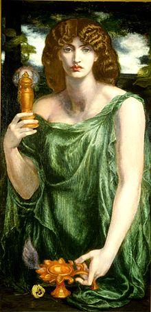 Mnemosyne by Rossetti